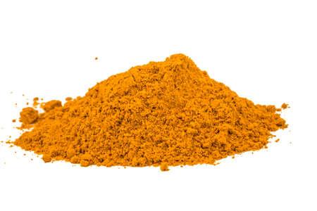 Curcuma powder heap isolated