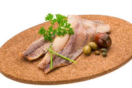 Herring fillet with herbs photo