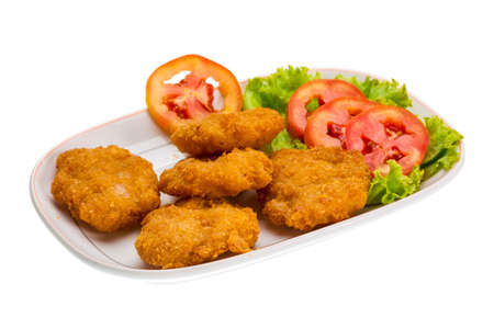 Thau Cutlet with tomatoes and salad photo