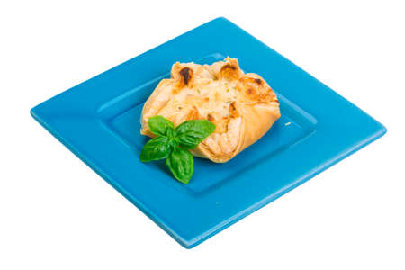 cartellate: Pastry with scallop isolated