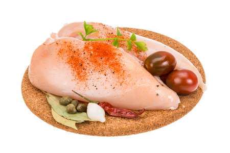 Raw Chicken breast photo