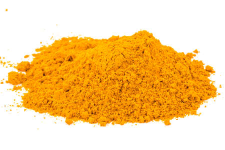 Curcuma powder heap isolated