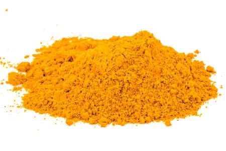 curcumin: Curcuma powder heap isolated