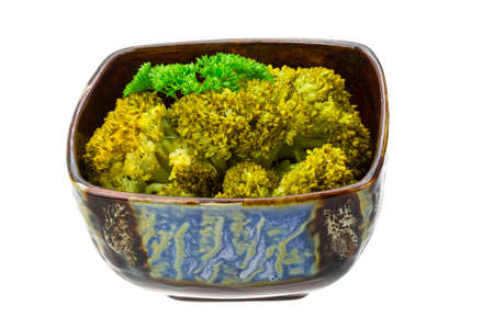 Boiled cauliflower with parsley photo