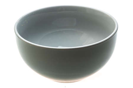 Empty ceramic bowl isolated photo