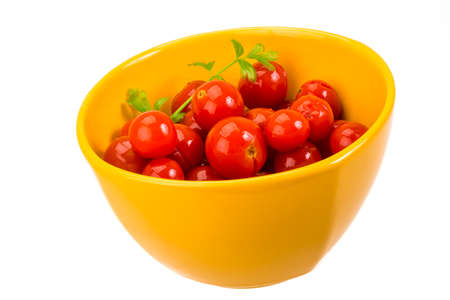 Marinated cherry tomato with parsley photo