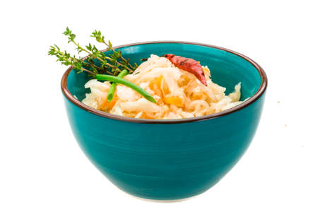 fermented: Fermented cabbage with thyme