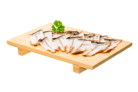 Sliced eel sashimi photo
