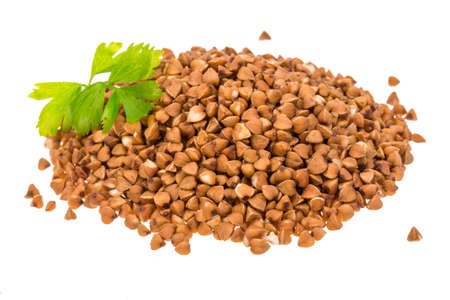 buckwheat: Buckwheat isolated Stock Photo