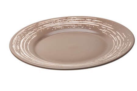 Brown plate isolated photo