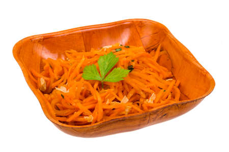 Korean carrot with parsley photo