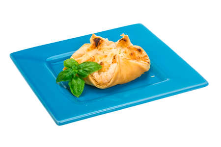 Pastry with scallop isolated