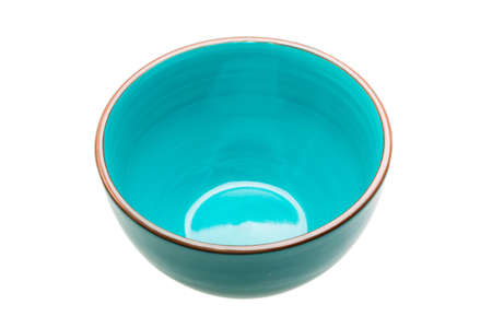 bol vide: Blue empty bowl isolated Banque d'images