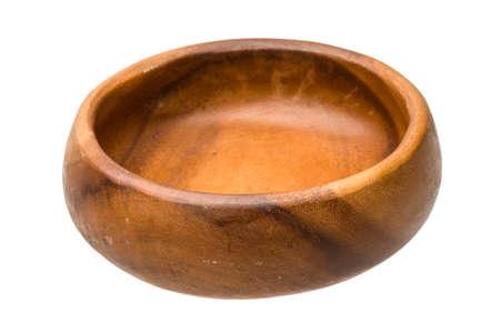 Wood bowl isolated photo