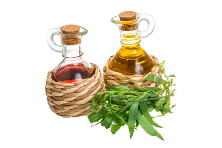 Vinegar, oil and tarragon photo