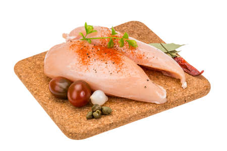 Chicken pile for cooking photo