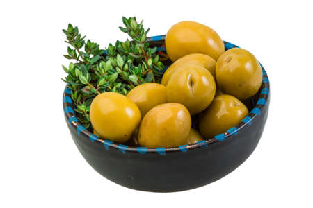 Gigant olives with thyme photo