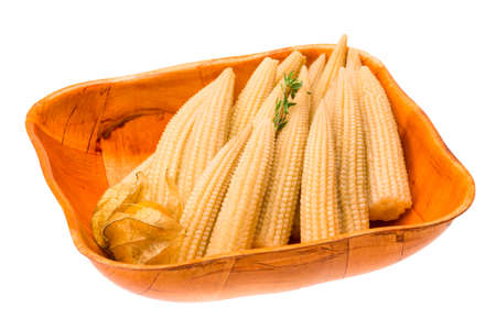 Baby corn with thyme photo
