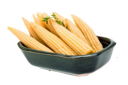 Baby corn isolated photo