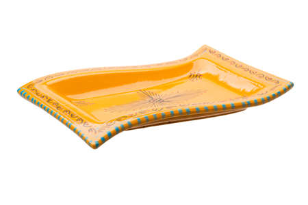 bol vide: Yellow empty bowl isolated