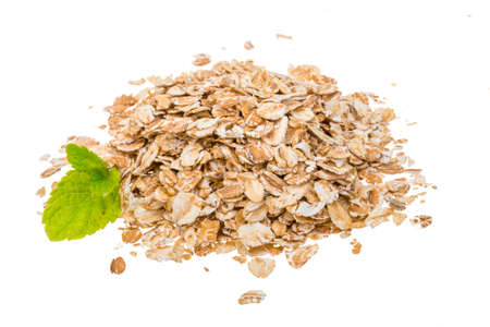 Oats isolated heap photo