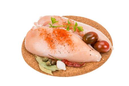 Raw Chicken breast photo
