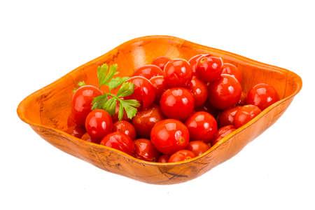 Marinated cherry tomato with parsley photo