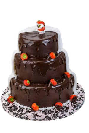 Wedding cake with strawberry Stock Photo