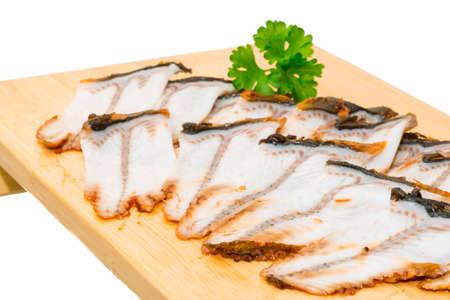 Sliced eel sashimi photo