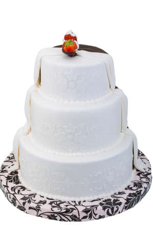 Wedding cake with strawberry photo