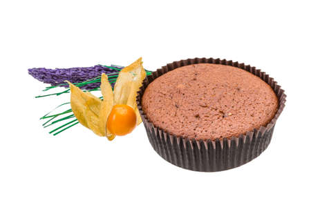 Muffin with flower photo