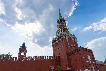 Spasskaya tower on Red Square Moscow Kremlin photo