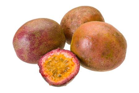 Fresh ripe maracuja photo