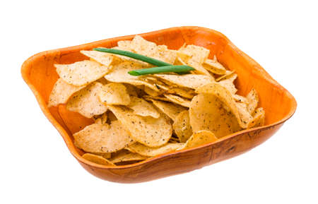 Potato chips with onion Stock Photo