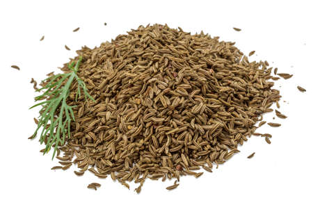 Caraway heap isolated on white background photo