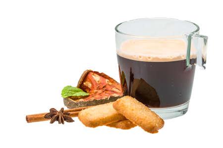 Dutch cookies with coffee photo