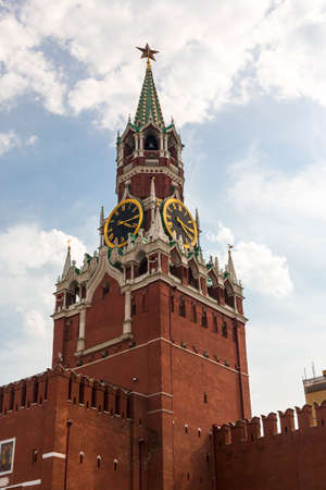 Spasskaya tower on Red Square Moscow Kremlin Stock Photo - 27139382