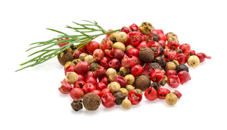 Red, black and white pepper heap mix photo