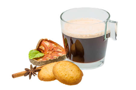 Dutch cookies with coffee photo