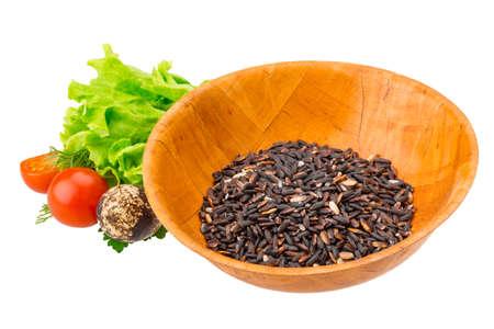 Raw rice mix photo