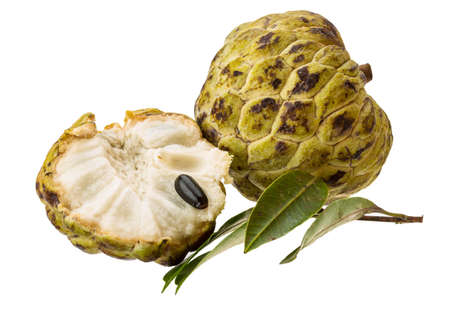 annona: Asian fruit - annona on white Stock Photo