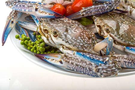 Raw blue crab - ready to cook Foto de archivo
