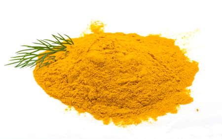 curcumin: Curcuma powder isolated with dill