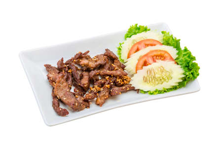 Fried pork thai style photo