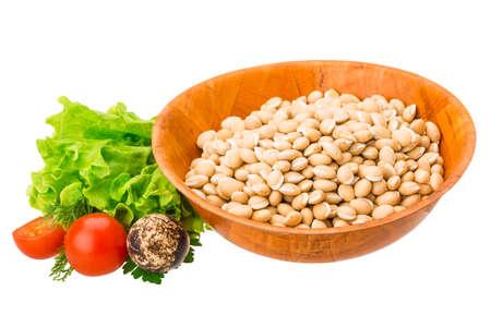 White raw beans photo
