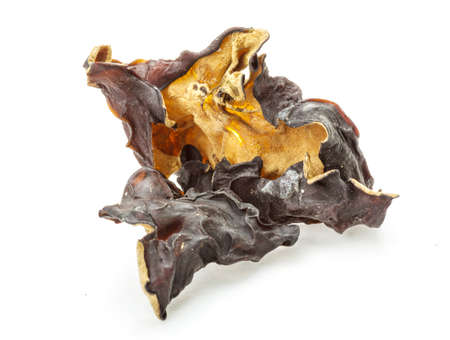 cloud ear fungus: Asian dry mushrooms heap isolated