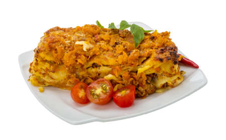 Italian Lasagna - meat, cheese and vegetables photo