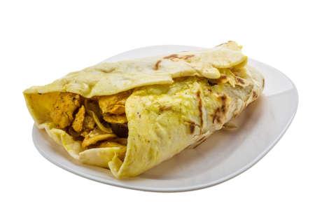 Shawarma isolated on white background photo