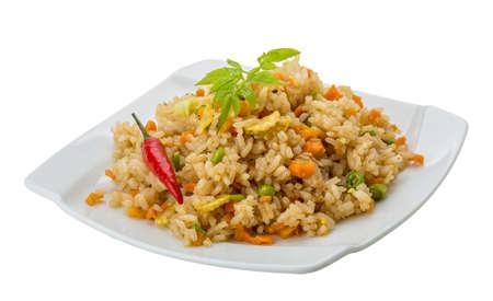 Vegetarian fried rice - asian food Stock Photo