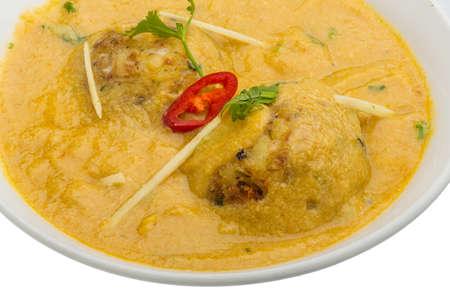 malai: Malai kofta - vegetarian indian food with potato